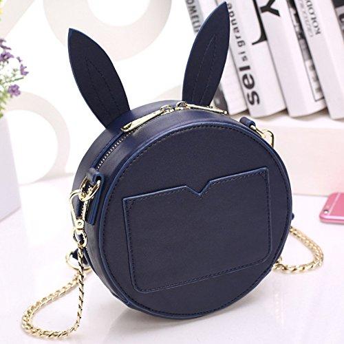 Messenger Shoulder Bag Package For Bag Phone Chain Women Mobile Handbag Round Blue Fashion Womens Bag xwpYgg