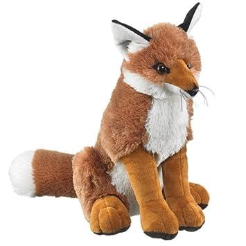 Large Fox Plush Red Fox Stuffed Animal Amazon Co Uk Toys Games