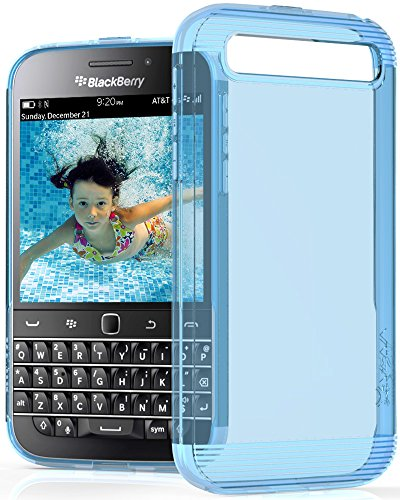 BlackBerry Classic / Q20 Case - VENA [vSkin] slim Protection [1.0mm Thin] TPU Case Cover for BlackBerry Classic / Q20 (Transparent Blue)