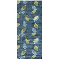 Soft Foam Runner Mat FLORAL BLUE Kitchen Bathroom Pool Boat Hallway | 26-inch x 6-feet (2x6)