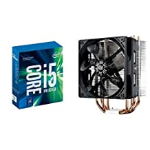 Intel 7th Gen Core i5-7600K Desktop Processor (BX80677I57600K) & Cooler Master Hyper 212 EVO CPU Cooler with 120mm PWM Fan Bundle