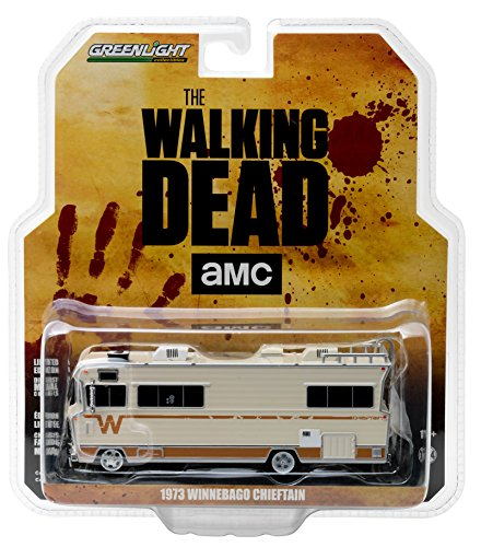 Greenlight 33070A Dale's 1973 Winnebago Chieftain The Walking Dead RV 1:64 Scale Diecast Model