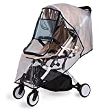 Bemece Universal Rain Cover for Pushchair Stroller Buggy Pram, Baby Travel Weather Shield - L