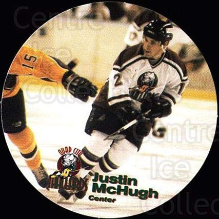 Used, (CI) Justin McHugh Hockey Card 1996-97 Quad City Mallards for sale  Delivered anywhere in USA