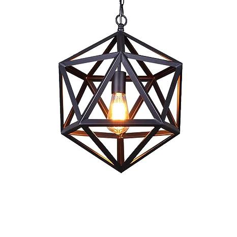 Amazon.com: Lámpara colgante de metal industrial con diseño ...