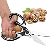Multifunction Kitchen Shears Stainless Steel Heavy Sharp Scissors Nut Cracker Opener