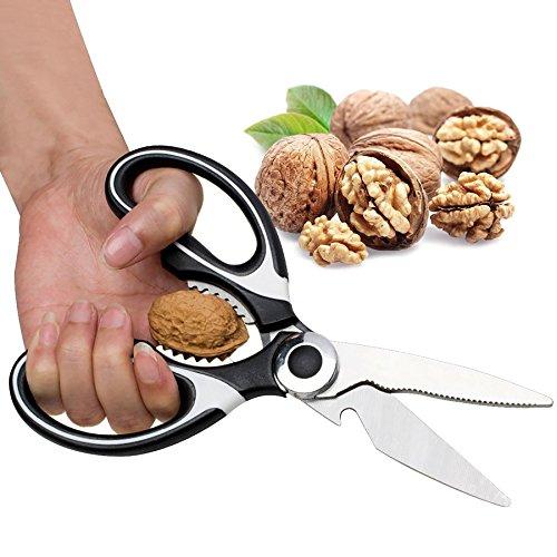 Multifunction Kitchen Shears Stainless Steel Heavy Sharp Scissors Nut Cracker Opener