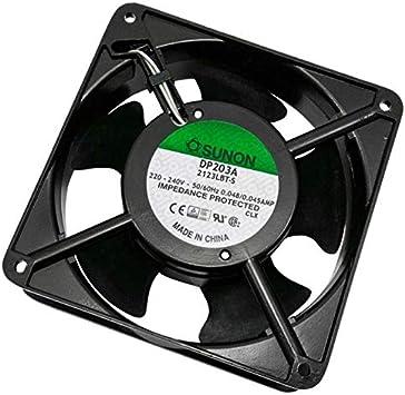 Fan Ventilador 230V 10,9W 120x120x38mm 132,5m³/h 39dBA ; Sunon ...