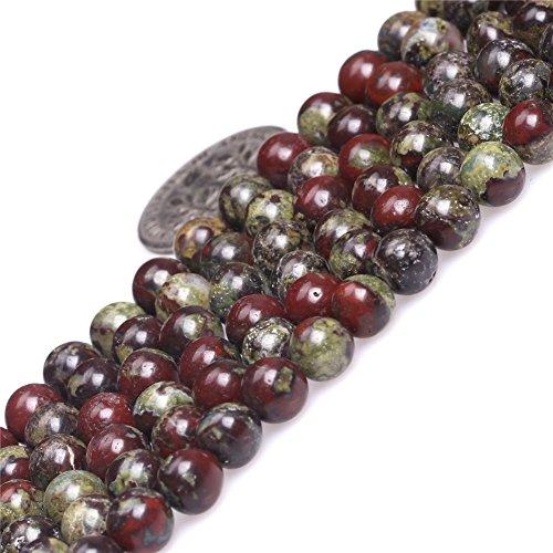 (Australia Blood Jade Beads for Jewelry Making Natural Gemstone Semi Precious 6mm Round Green Red 15