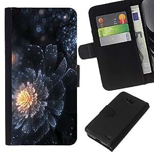 All Phone Most Case / Oferta Especial Cáscara Funda de cuero Monedero Cubierta de proteccion Caso / Wallet Case for LG OPTIMUS L90 // Petal Universe Star Sun Mystery Dark