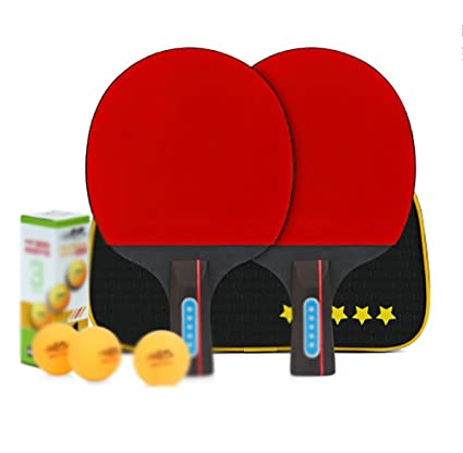 X&M Raqueta de Tenis de Mesa - Profesional Ping Pong Paleta con Estuche-ittf Aprobado