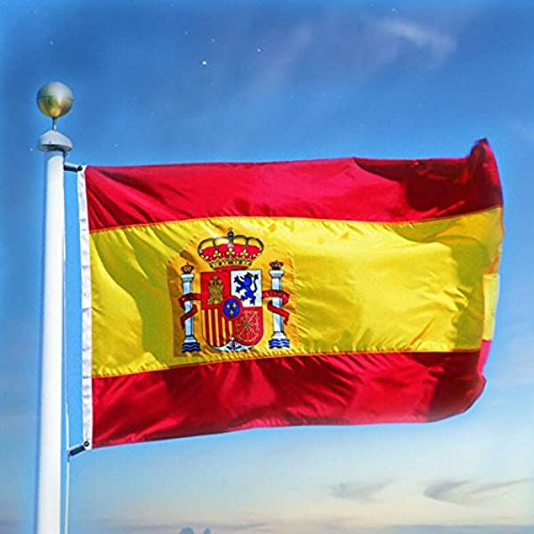TOPmountain Bandera de España de 3x5 pies con Brisa, Colores Vivos ...