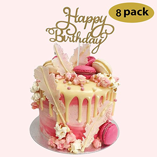 8 pack happy birthday cake topper first birthday cupcake for 1st birthday decoration packs