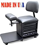 2318-FF Salon Spa Pedicure Station Stool with Footrest & Back Support by Dina Meri