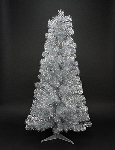 Northlight Unlit Silver Tinsel Medium Artificial Christma...