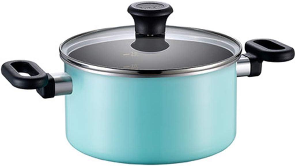 Batería de cocina Olla antiadherente para el hogar Olla de olla Sopa de olla con azul Olla de sopa pequeña Cocina de inducción universal: Amazon.es: Hogar