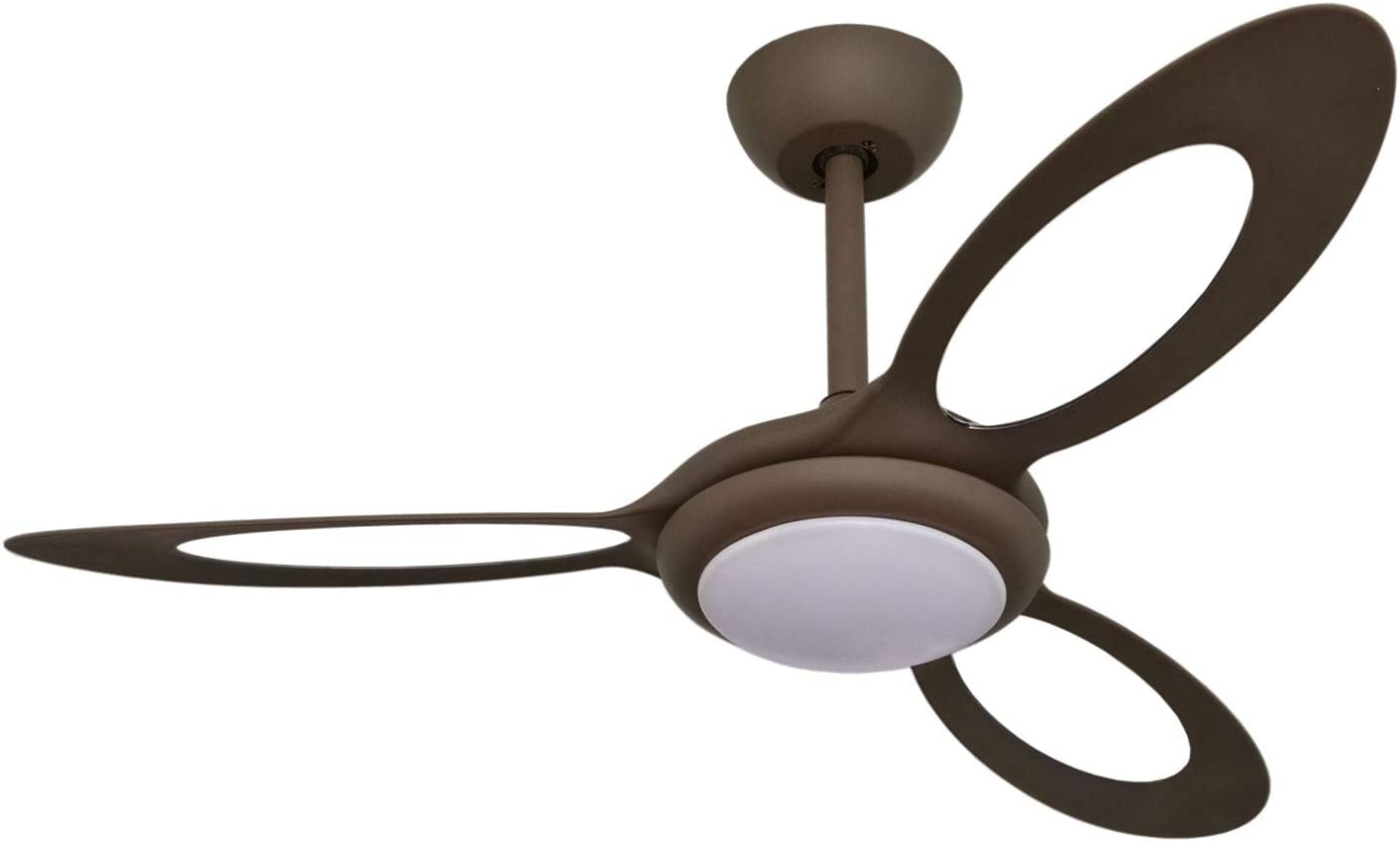 Goozegg 44 Inch Ceiling Fan With Led Light Reversible Dc Motor 3 Blades 6 Speed Coffee Black Amazon Com