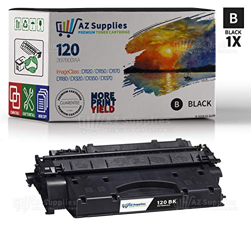 AZ SUPPLIES Toner | 30% more Print Performance | Compatible with Canon 120 (2617B001AA) Black Toner Cartridge for Canon D1120, D1150, D1170, D1180, D1320, D1350, D1370 (Toner Black Cartridge 120)