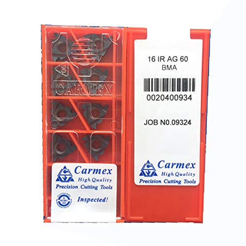 Carus Tool KORLOY 16 IR AG 60 BMA Carbide Inserts CNC Tool 10Pcs//Box