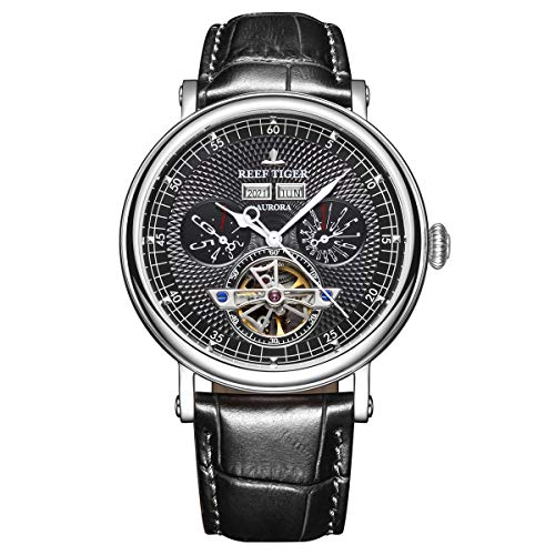 Luxury Mens Casual Watches Perpetual Calendar Watch Tourbillon Mechanical Watch Waterproof RGA1903