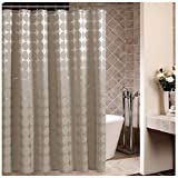 Celine lin Luxury Mildew-Free Polyester Water-Repellent Fabric Bath Curtain Shower Curtain,72*72inch