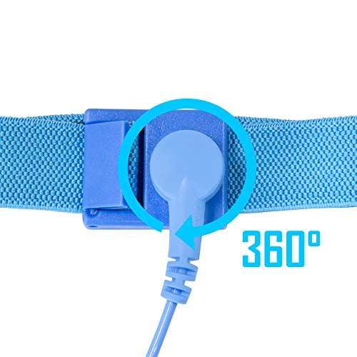 Various Anti Static Devices For Computers : Kingwin anti static wrist strap blue adjustable esd
