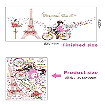 K107LOI % DIY Romantic Flower Fairy Swing Butterfly Wall Stickers Kids Room Wall Decor Bedroom Living Room Girls Room Decal Poster Mural-Opaque-: Kitchen & Dining