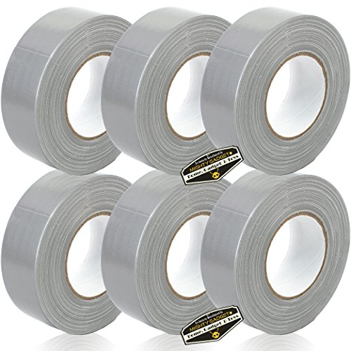 6 Rolls of Mighty Gadget (R) All- Purpose Utility Grade Duct Tape 1.88 inch x 60 Yards (Silver Gray (Utility Duct Tape)