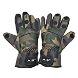 Ezyoutdoor Non-slip Windproof Waterproof Professional Ice Fishing Gloves 3 Finger Elastic Diving Fabric Appearing Gloves