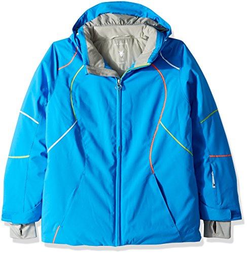 (Spyder Girl's Tresh Ski Jacket, French Blue/Fresh/White, Size 16)
