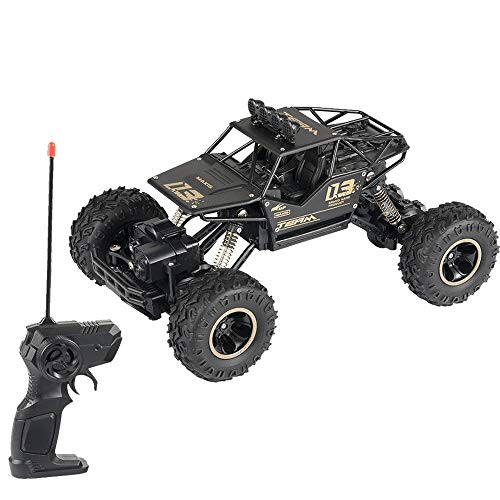Price comparison product image Insaneness Xmas Toys Scale 1:18 4WD RC Cars Alloy Speed 2.4G Radio Control Alloy Off-Road Trucks (Black)