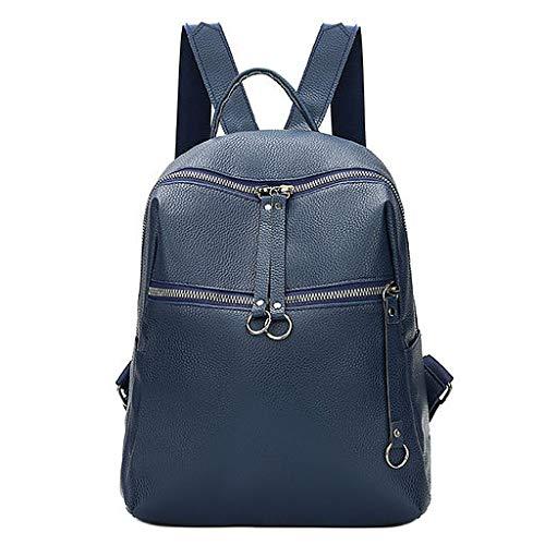 06 Le Backpack Borsa Leather Women Soft Wild Tide Computer Laptop Durable shoulder Donne Blu Per College Simple Fenebort Casual N Fashion Studente Daypacks Double Zaino School Legant Bag gnxFOqOPw