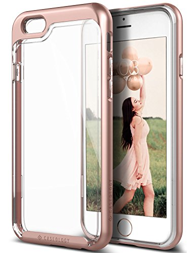 iPhone 6S Case, iPhone 6 Case, Caseology [Skyfall Series] Transparent Clear Enhanced Grip [Rose Gold] [Slim Cushion] for Apple iPhone 6S & iPhone 6