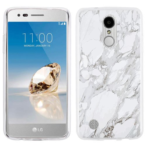 the best attitude 39259 d6068 LG Aristo case - [White Marble] (Crystal Clear) PaletteShield Soft Flexible  TPU gel skin phone cover (fit LG Aristo/ MS210/ LV3)