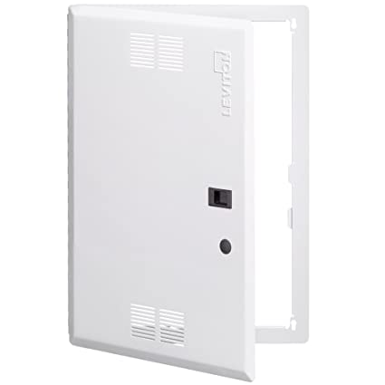 Leviton 47605 21S 21 Inch Vented, Structured Media Premium Hinged Door,  White