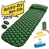 Sleeping Pad,Camping Mat,Outdoor Air Camp Mattress,Sleeping Bed,Inflatable Pillow with Button Stitching for Travelling