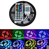 EverBright Super Brightness RGB 5M(16.4Ft) 5050 SMD 30LED/M 150 LED Waterproof Flexible Light Strip PCB White For Car truck Neon Undercar Lighting Kits Mall booth House decoration Stage music Coloreful lights