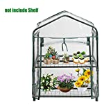 US-PopTrading Plant Greenhouse Cover,Tier Mini Portable Walk-In Garden Home for Outdoor Indoor Herb Flower Plants Garden Balcony (A)