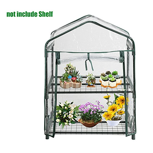 US-PopTrading Plant Greenhouse Cover,Tier Mini Portable Walk-In Garden Home for Outdoor Indoor Herb Flower Plants Garden Balcony (A) by US-PopTrading
