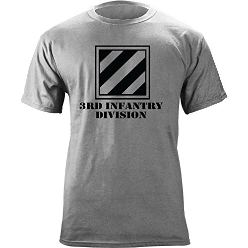 Us 3rd Infantry Division - Army 3rd Infantry Division Subdued Veteran T-Shirt (XL, Heather Grey)