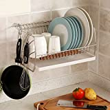 Stainless steel dish rack dish drain rack wall-mounted racks kitchen racks drain Bowl