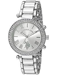 u.s. polo assn. Tono plateado de mujer de cuarzo vestido reloj (modelo: usc40172)