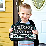 #10: First Day of School Sign | Chalkboard Style | Preschool | Kindergarten | 1st Grade Plaque | Use as Photo Prop for a Boy or Girl | 10 inches x 15.5 inches (Preschool)