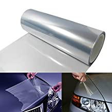 12 by 48 inches Clear Bra Headlight, Tail Lights, Bumper, Hood Paint Protection Vinyl Film