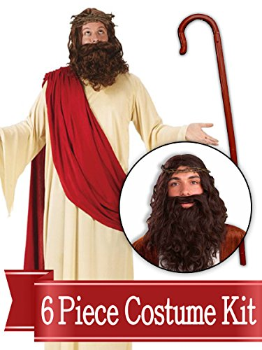 BirthdayExpress Jesus Shepherd Biblical Easter Nativity Adult Costume Kit - Standard