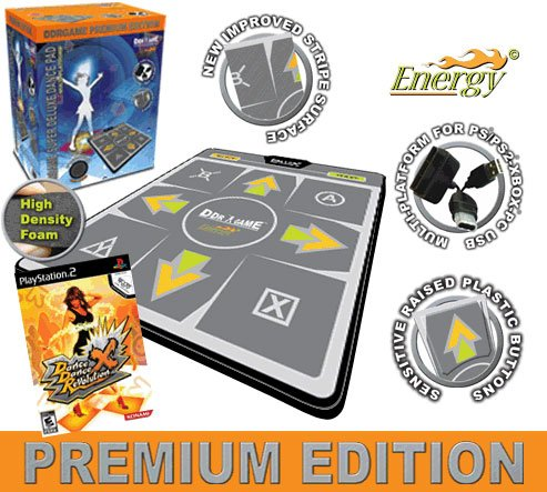 Dance Dance Revolution Multi-Platform Super Sensors Energy Premium Edition Super Deluxe Dance Pad fo (Premium Edition Dance Pad)