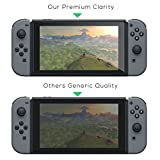 TNP Nintendo Switch Screen Protector (2 Pack) - Nintendo Switch Tempered Glass Screen Protector Cover Accessory for Nintendo Switch, 9H Hardness, Anti-Scratch, Premium Clarity, Bubble-Free Install