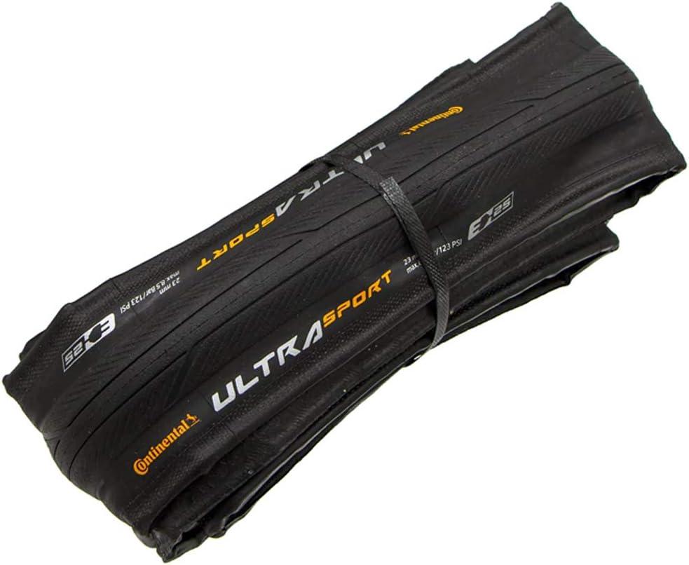 Continental Cubierta Carretera Ultra Sport III Negro-Medidas: 700 x 25 Neumáticos para Bicicleta, Adultos Unisex, Talla Única