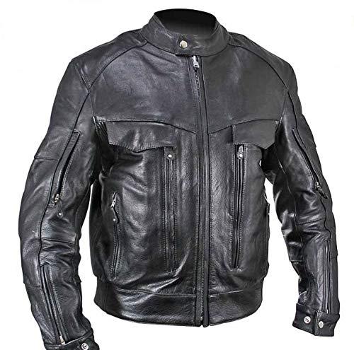 - Xelement B4495 'Bandit' Men's Black Buffalo Leather Cruiser Motorcycle Jacket - 4X-Large