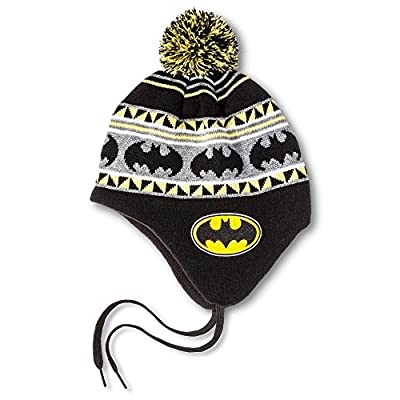 DC Comics Men's Batman Festive Pom Peruvian Shoelace Knit Cap from DC Comics